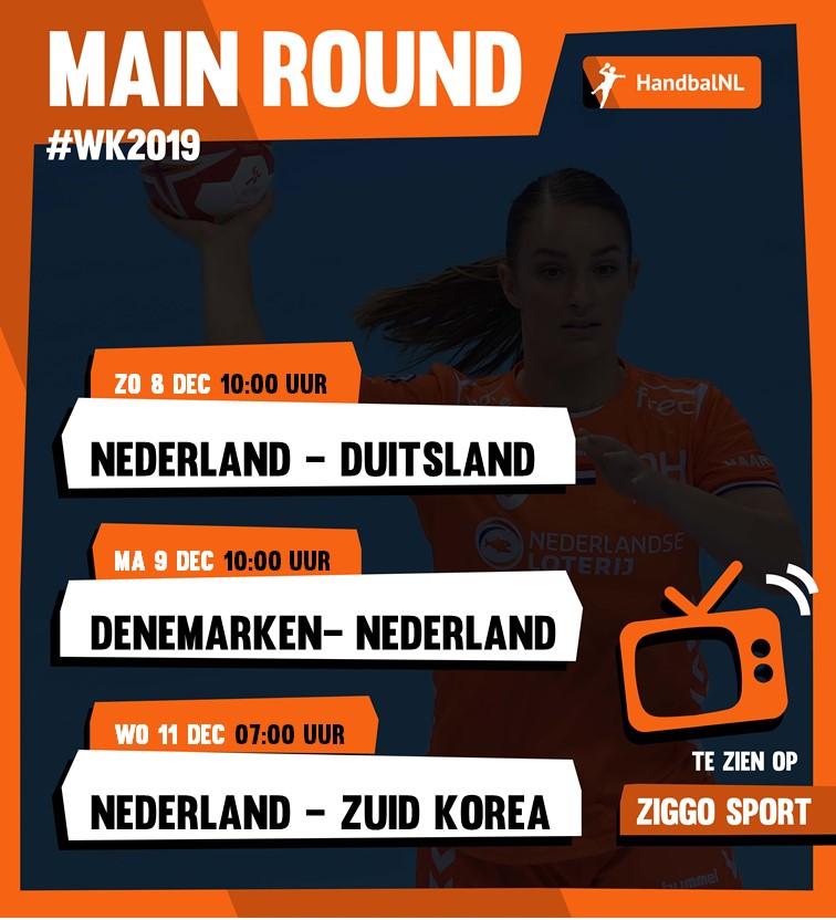 Programma Oranjedames Main Round